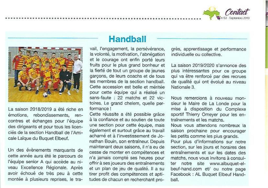 Article Londe Contact Septembre 2019